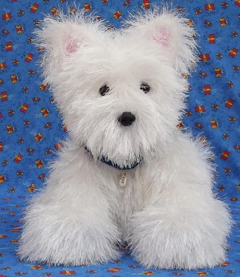 How cute is this knitted Westie Puppy Dog? http://www.craftsy.com/pattern/knitting/toy/knit-westie-puppy/43671