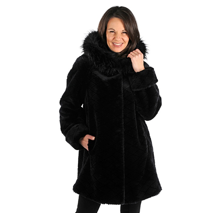 Buy Olympia Faux Furs Diamond Texture Seal Faux Fur Swing Coat, Olympia Faux Fursand Outerwear from The Shopping Channel, Canada's home shopping network-Online Shopping for Canadians