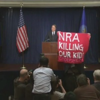 'The NRA is Killing Our Children': Protester Interrupts NRA News Conference