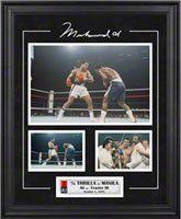 Muhammad Ali Framed 3 Photograph Collage | Details: Thrilla in Manila