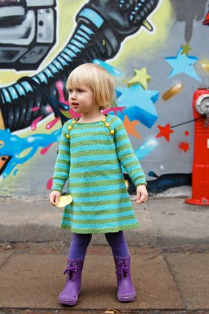 Nova Knitted Dress Pattern (Free in sizes 2, 4, 6, 8, and 10 years)