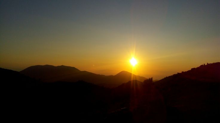 Sunrise from Top of Mount Ainos