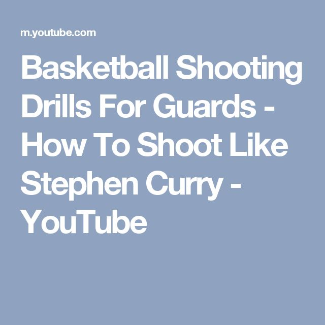 Basketball Shooting Drills For Guards - How To Shoot Like Stephen Curry - YouTube