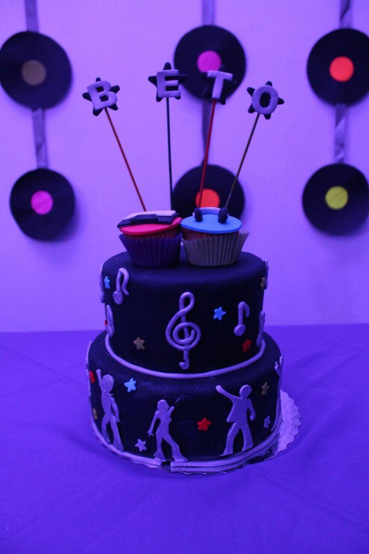 Torta estilo disco🎂