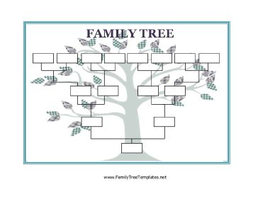 Homeschool printable Use this Blank Family Tree with stylized leaves to collect and display information about your family. Free to download and print