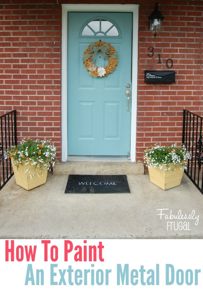 How to paint an exterior metal door
