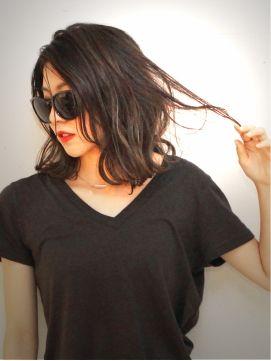 ★ 外国人風 『 ダークグレージュ 』 STREET 無造作MEDIUM★ - 24時間いつでもWEB予約OK!ヘアスタイル10万点以上掲載!お気に入りの髪型、人気のヘアスタイルを探すならKirei Style[キレイスタイル]で。