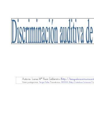 Discriminación auditiva sinfones 1
