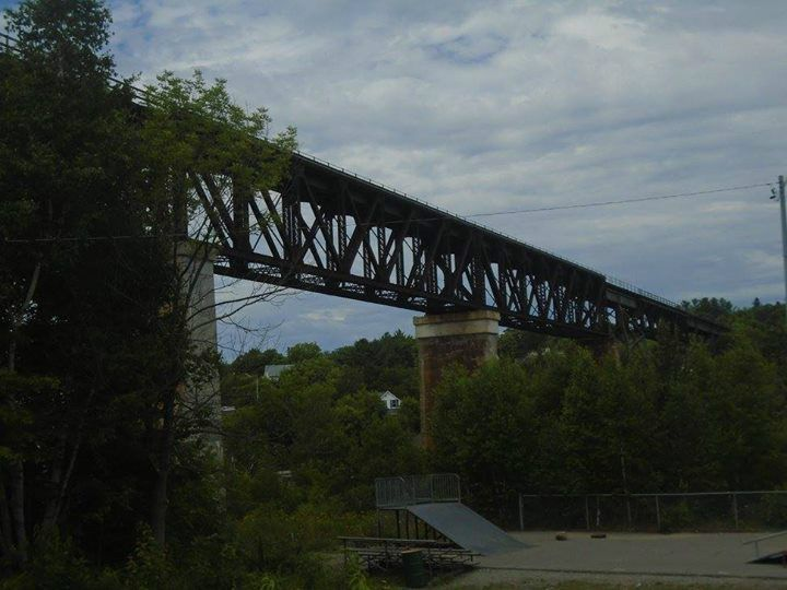 The Seguin River Train Trestle...Built in 1903...Opened to Rail Traffic in 1908 in Parry Sound Ontario