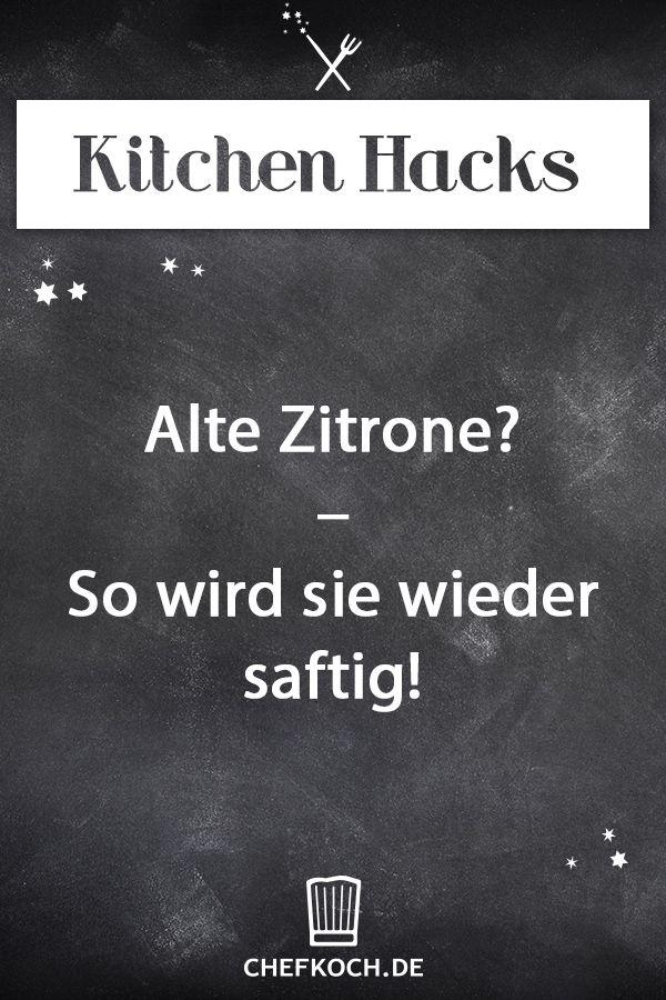 Kitchen Hack: Alte Zitrone? - So wird sie wieder saftig!