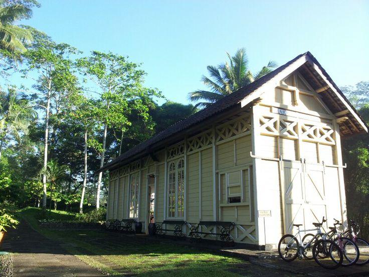 Mayong Train Station at Mesastila resort Magelang,Indonesia