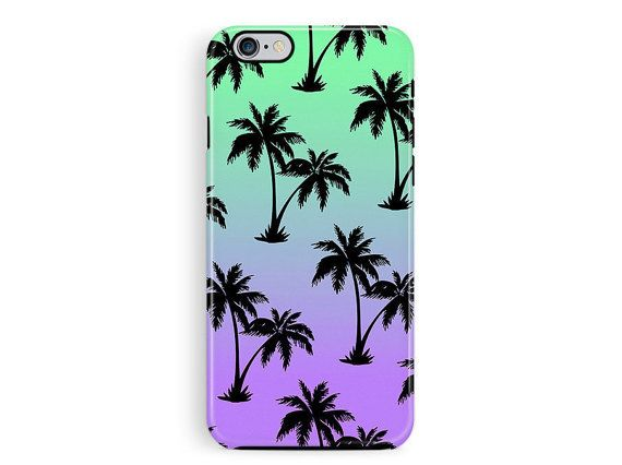 Palm tree Phone case, Etsy Gifts, Gifts For Him, iPhone 6 Protective Case, iPhone 5 Case, iPhone 6 Case, Bumper iPhone case, Gradient iphone
