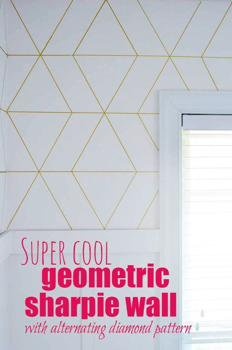 jt could also do this on front of cuboard doors super cool geometric sharpie