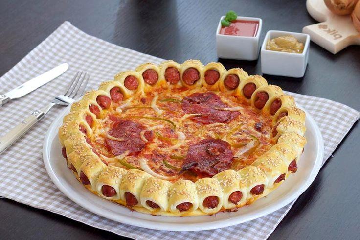 Оригинальная пицца с сосисками
