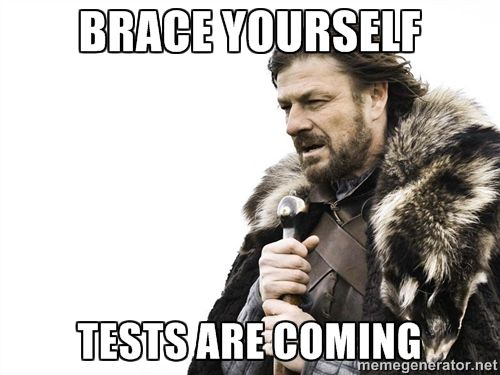 Brace yourself tests are coming - Winter is Coming | Meme Generator