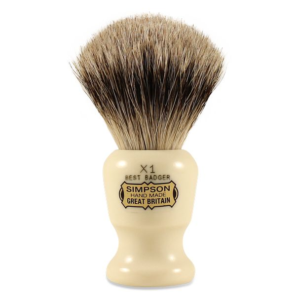 Commodore X1 Best Badger Shave Brush by SIMPSONS