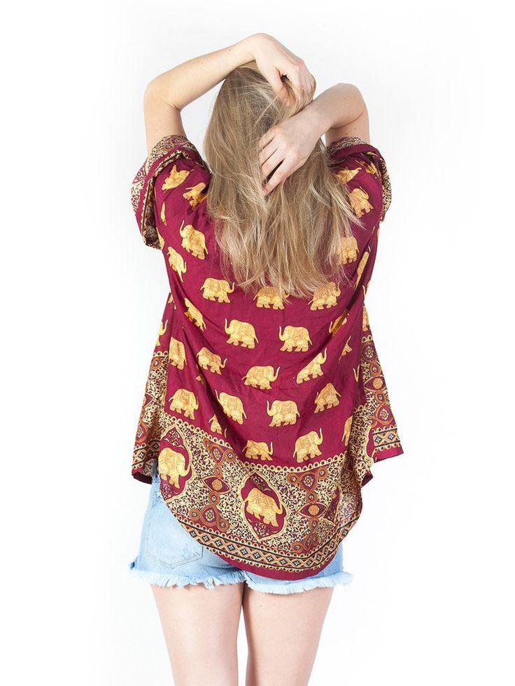 L/XL Lizzie Elephant Kimono Cardigan