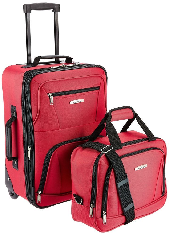2Pcs Lightweight Carry On Luggage Set Tote Bag Expandable Suitcase Red  Rolling  Unbranded  ToteBag 9135825724