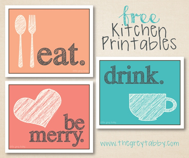 1000 Images About Eat Drink And Be Married On Pinterest: Free Kitchen Printables - Eat, Drink, & Be Married