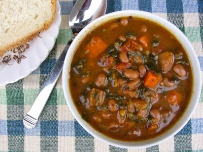 Slow-Cooker Hearty Wintertime Black-Eyed Pea, Vegetable, and Sausage Soup Recipe from Simple Nourished Living