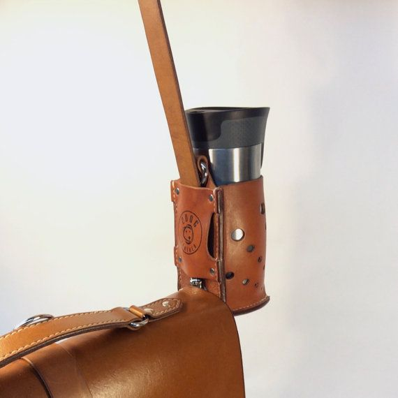 This 3-In-1 Bottle Holster is the perfect way to keep your water bottle, coffee travel mug, or your even your beer, close to you. This holster can be