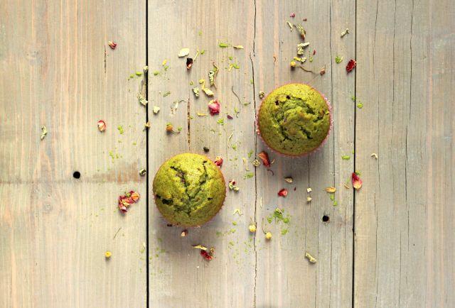 Matcha tea muffins