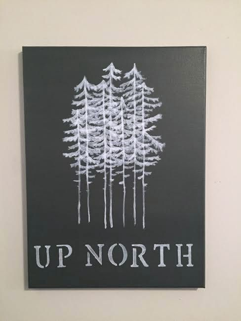 Up North Minnesota Canvas Painting by MINNYsota on Etsy