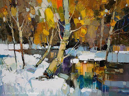 Iosif Derecichei, 'Early Snowfall', 30'' x 40'' | Galerie d'art - Au P'tit Bonheur - Art Gallery