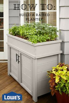Learn how to build a raised planter with hidden storage just in time for spring.