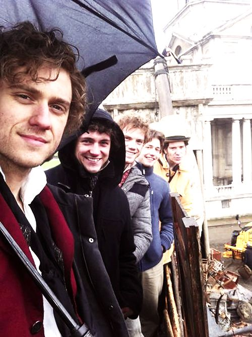 ABC Cafe Enjolras and Grantaire, Aaron Tveit, George Blagden, Barricade boys. Les Miserables