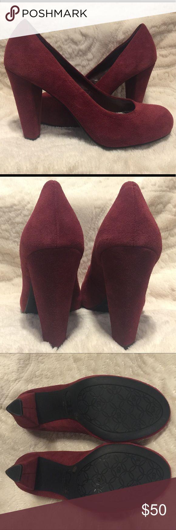 Gianni Bini Burgundy Suede Pump NEW Gianni Bini Burgundy Suede Pump. Never worn. Perfect condition! Gianni Bini Shoes Heels