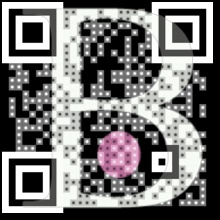 Order a new QR-code with your own pic or logotype in the background.