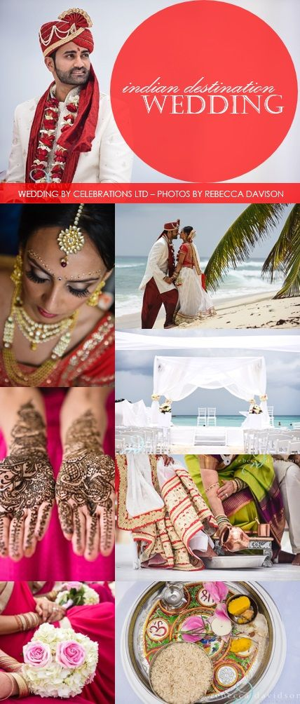 Seriously beautiful & bejeweled Indian Destination Wedding that took place on the Caribbean Islands of Grand Cayman. These photos by Rebecca Davidson will make you fall in love with the vibrancy of Indian Weddings. Planning, Design, Decor & Production by Celebrations Ltd.