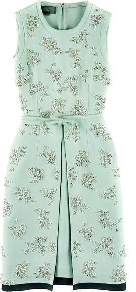GIAMBATTISTA VALLI Silk And Cotton Embroidered Dress - Lyst
