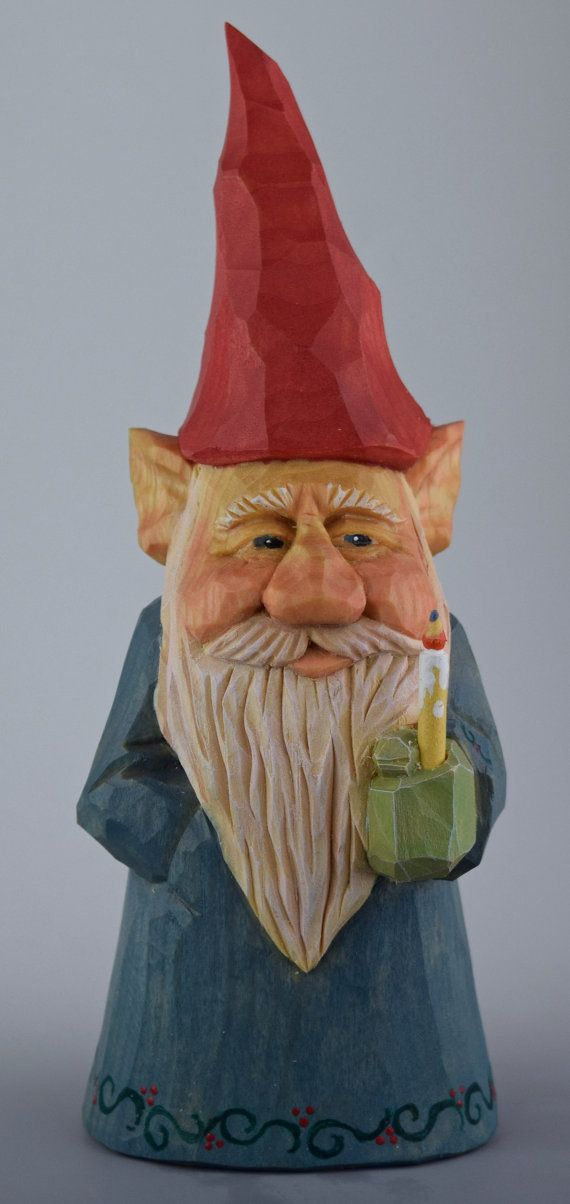 gnome hand carved wood Scandinavian caricature nordic by cjsolberg