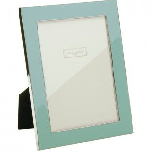 Contemporary Enamel Picture Frame - Baby Blue