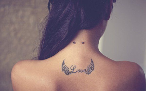 Small wing tattoo for girl - 35 Breathtaking Wings Tattoo Designs  <3 <3