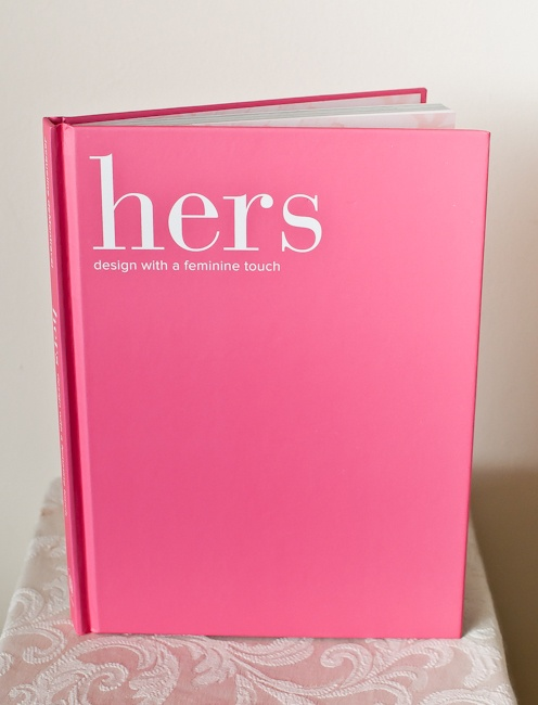 oh, and look at the pretty hot pink cover!