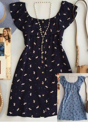 Платье-рубашка (платье-шемизье) с рюшами на вырезе. Обсуждение на LiveInternet - Российский Сервис Онлайн-Дневников