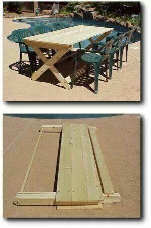 Neat folding picnic table