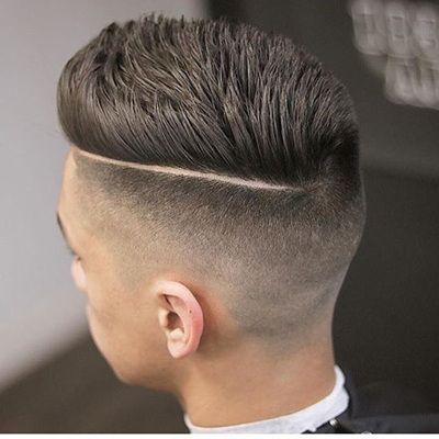 Resultado de imagen de pelados de hombre con raya