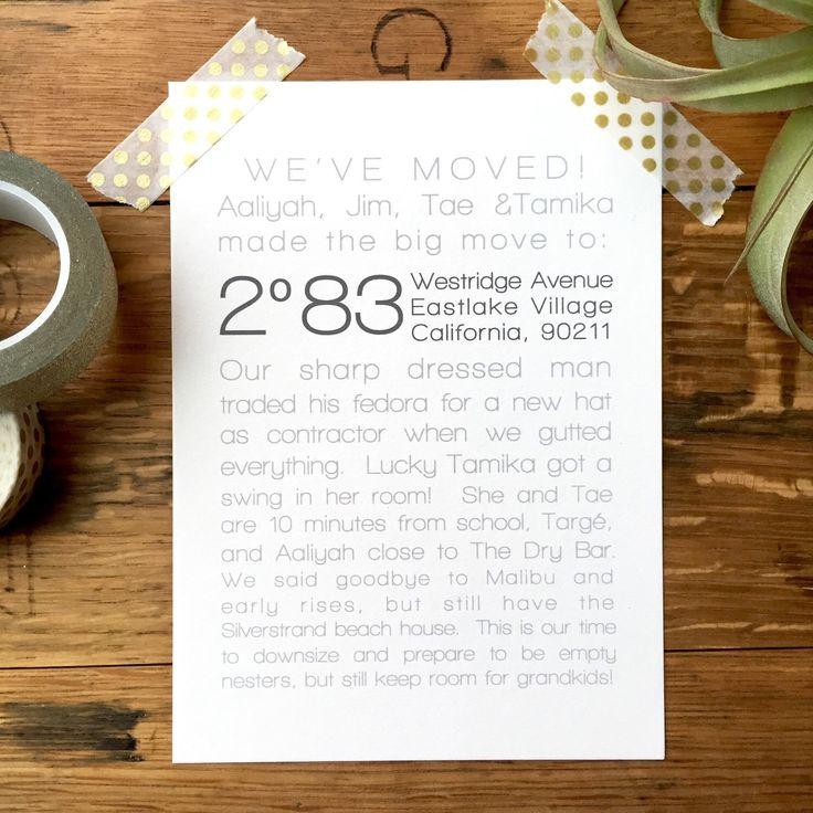 25+ parasta ideaa Pinterestissä New address announcement - print change of address form
