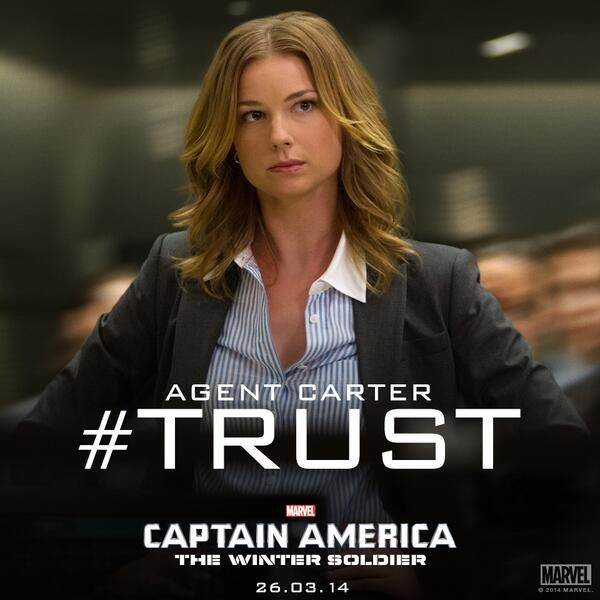 "Emily Van Camp as Agent Sharon Carter in ""Captain America: The Winter Soldier""--I saw her and I was all ""Emily from Revenge! This movie is even better"" plus no way she could just be the ""nurse""!!"