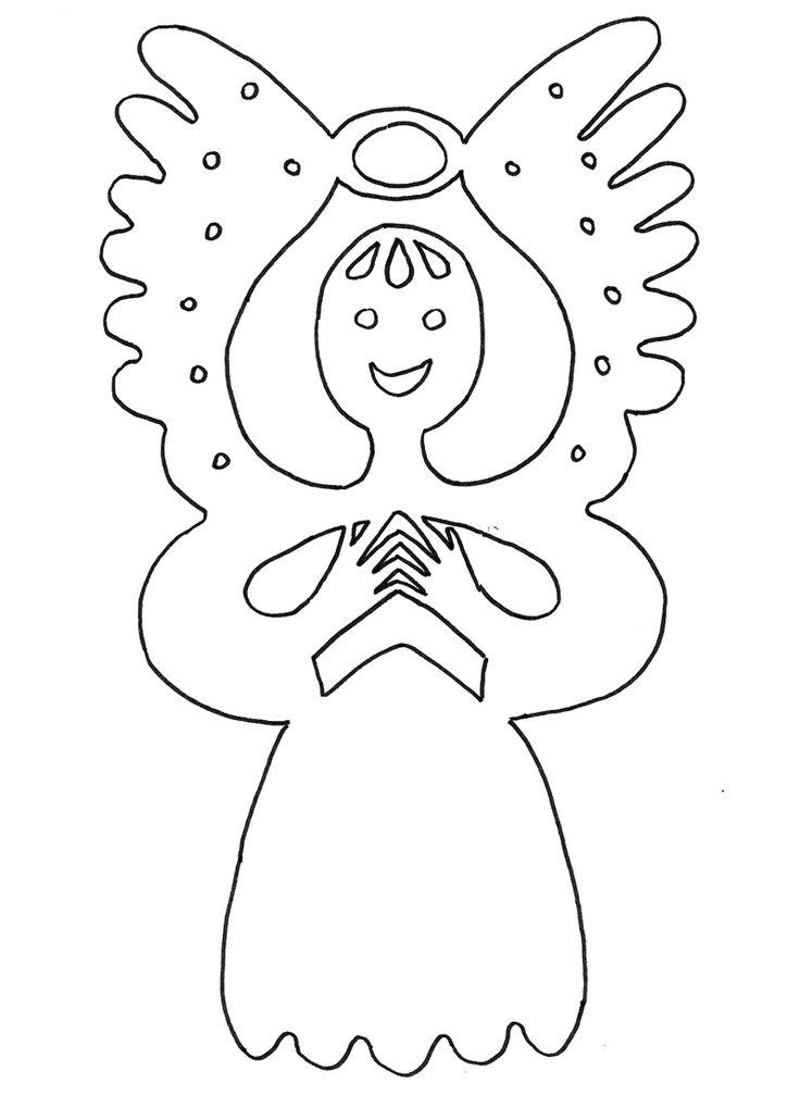 mikulas cert a andel  : Mikulášské vystřihovánky do okna