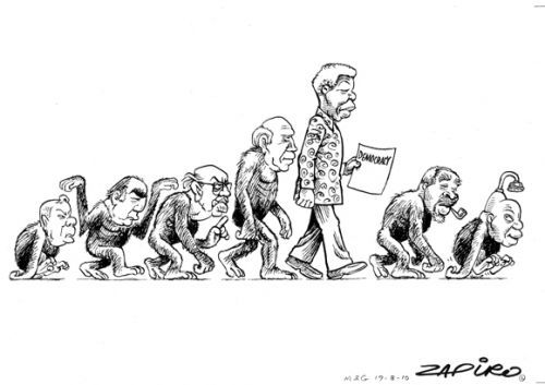 ZAPIRO plots the rise and fall of Democracy in South Africa through 7 presidencies.