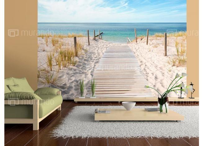 Přírodní motivy | Most k moři | Luxusní 3D fototapety a tapety na zeď.