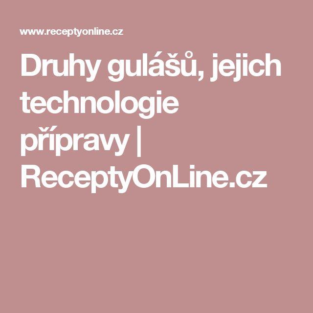 Druhy gulášů, jejich technologie přípravy  | ReceptyOnLine.cz