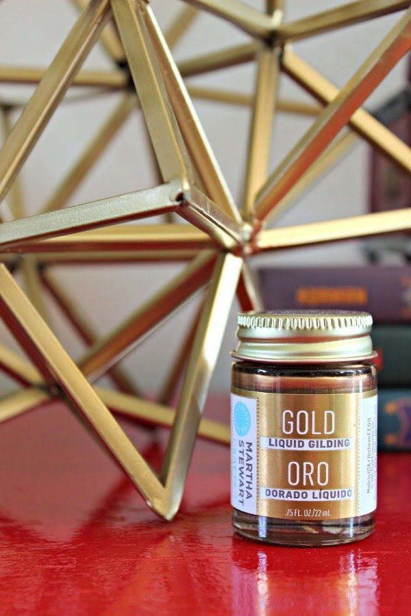 Dimples and Tangles: best gold paint Martha Steward liquid guilding paint