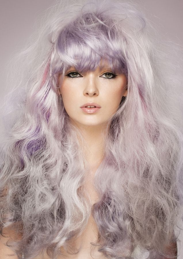 purple / silver hair