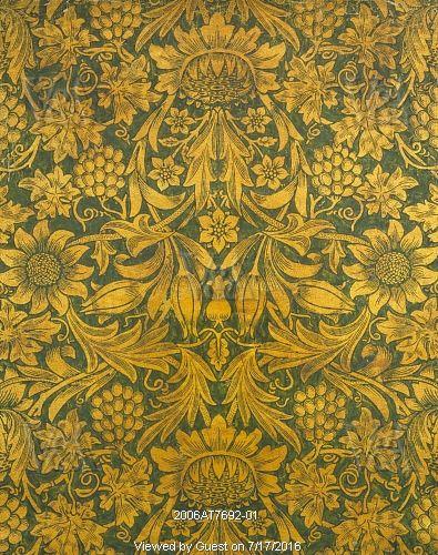 Sunflower wallpaper, by William Morris. England, 1879